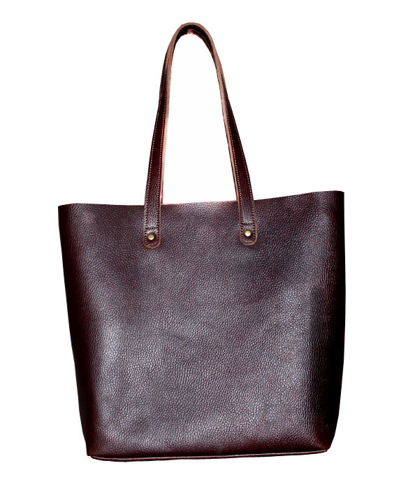 Women Vintage Looking Genuine Brown Leather Tote Shoulder Bag Handmade Purse